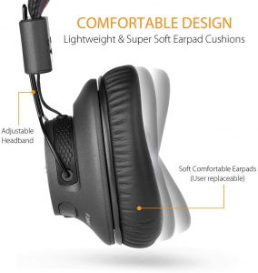 Avantree Audition Pro Headphones 40hr low latency wireless headphones