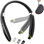 BEARTWO Upgraded Foldable Wireless Neckband Headset SX-990