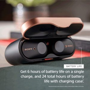 Earbuds with charging case - 30 hours