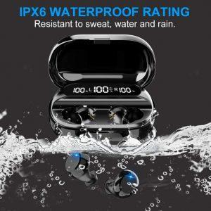 Waterproof wireless earbuds for sport