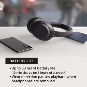 30 hours battery life - WH-1000XM3
