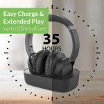 long life battery wireless headphones for tv