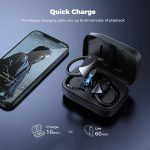 Wireless earbuds with fast charge and long life of battery