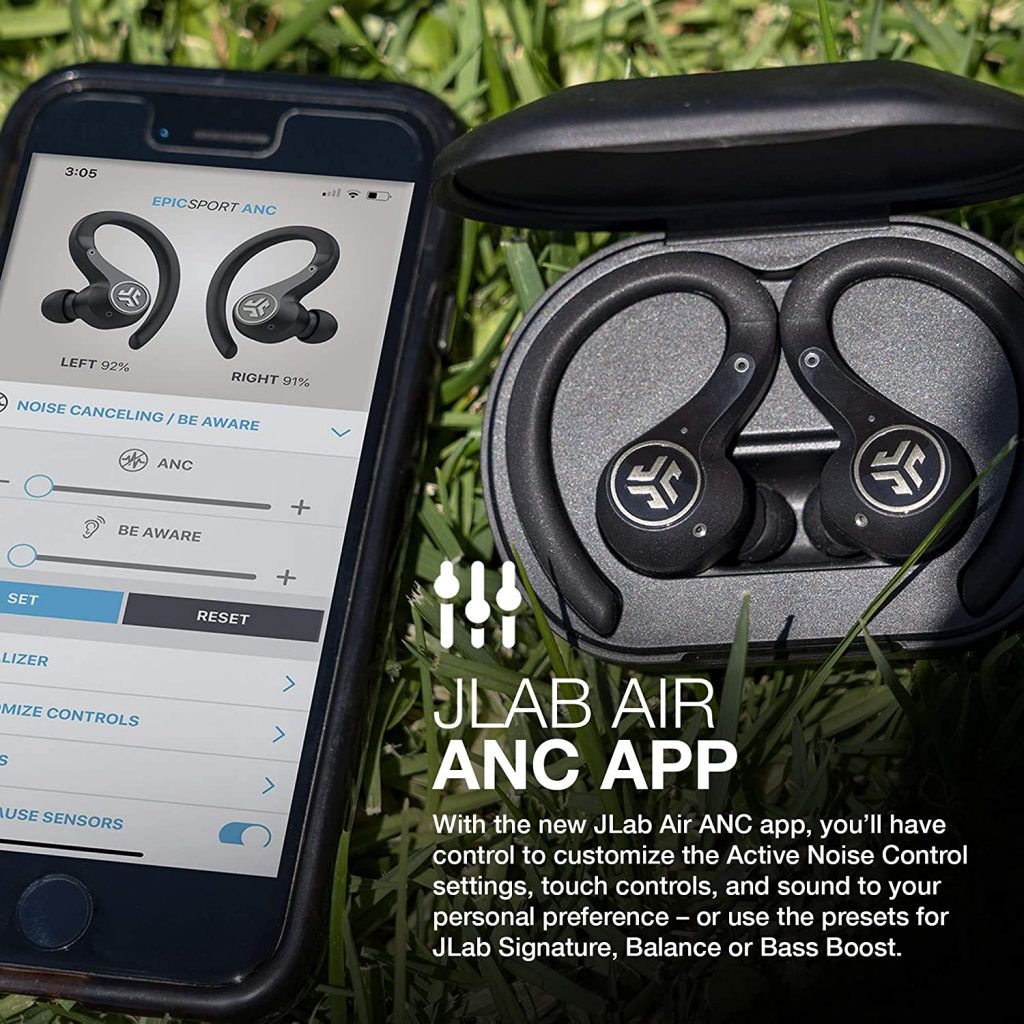 JLab Epic Air Sport ANC - True Wireless Earbuds for working out