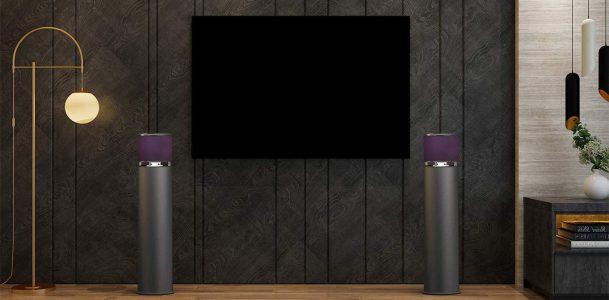 ABRAMTEK E600 Bluetooth Wireless Speaker - 360 Sound for TV or Party Outdoor