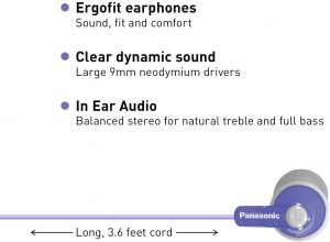 Cheapest in-ear headphones - Panasonic Ergofit