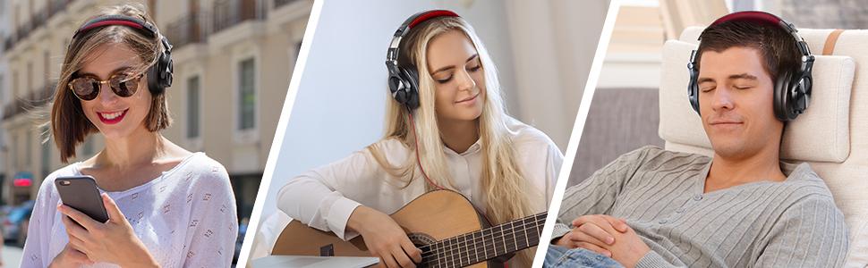 OneOdio A70 - Best cheap Studio Monitor Recording Headphones Under 50