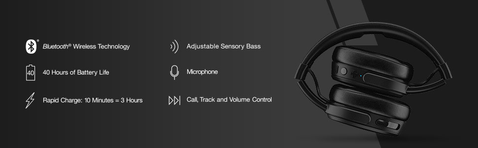 Skullcandy Crusher wireless - comfortable and foldable over-ear headphones